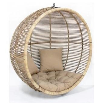Rotan relax stoel rond (hangend en staand)
