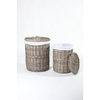 Rotan Wasmand set van 2 incl. linnen A&D Collections