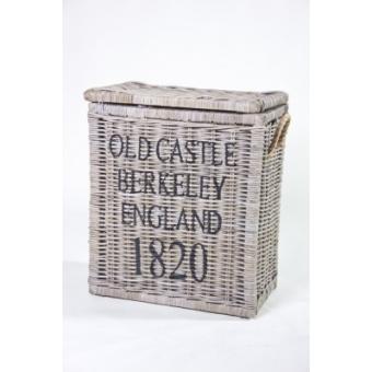 Rieten opbergkist 'Berkeley' met deksel A&D Collections