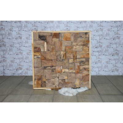 Wand deco hout teak A&D Collections
