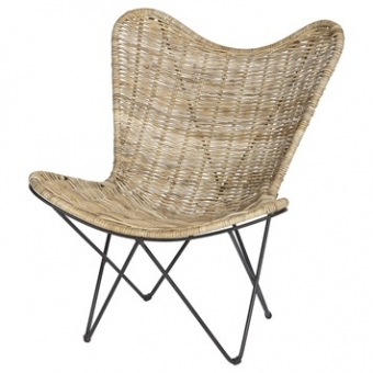 Rotan vlinderstoel by A&D Collections