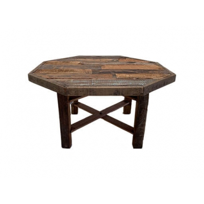 Salontafel Old Wood 8 hoek L