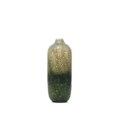 Glas Vaas Design Green Bottle F
