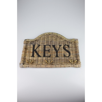 Sleutelbord riet 'keys' halfrond A&D Collections