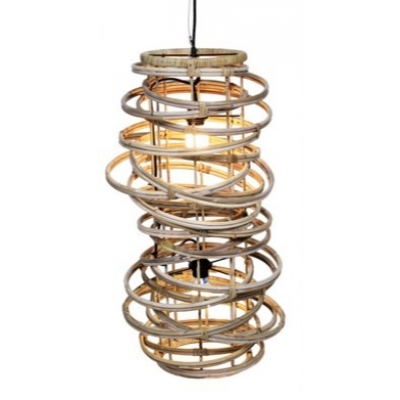 Rotan hanglamp gevlochten (dubbele fitting) A&D Collections